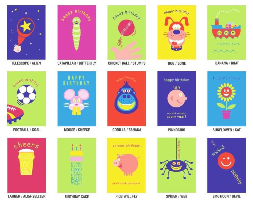 Paper D'Art cards cut above set for the Dangle D'Art Kids range