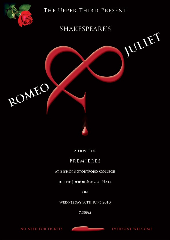 Romeo and Juliet Print design poster