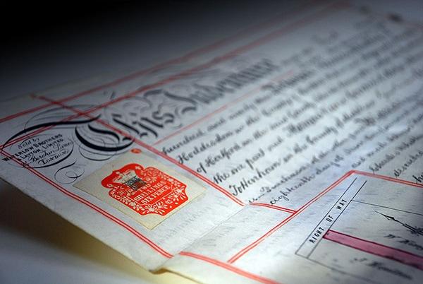 Close up of a Legal doucment