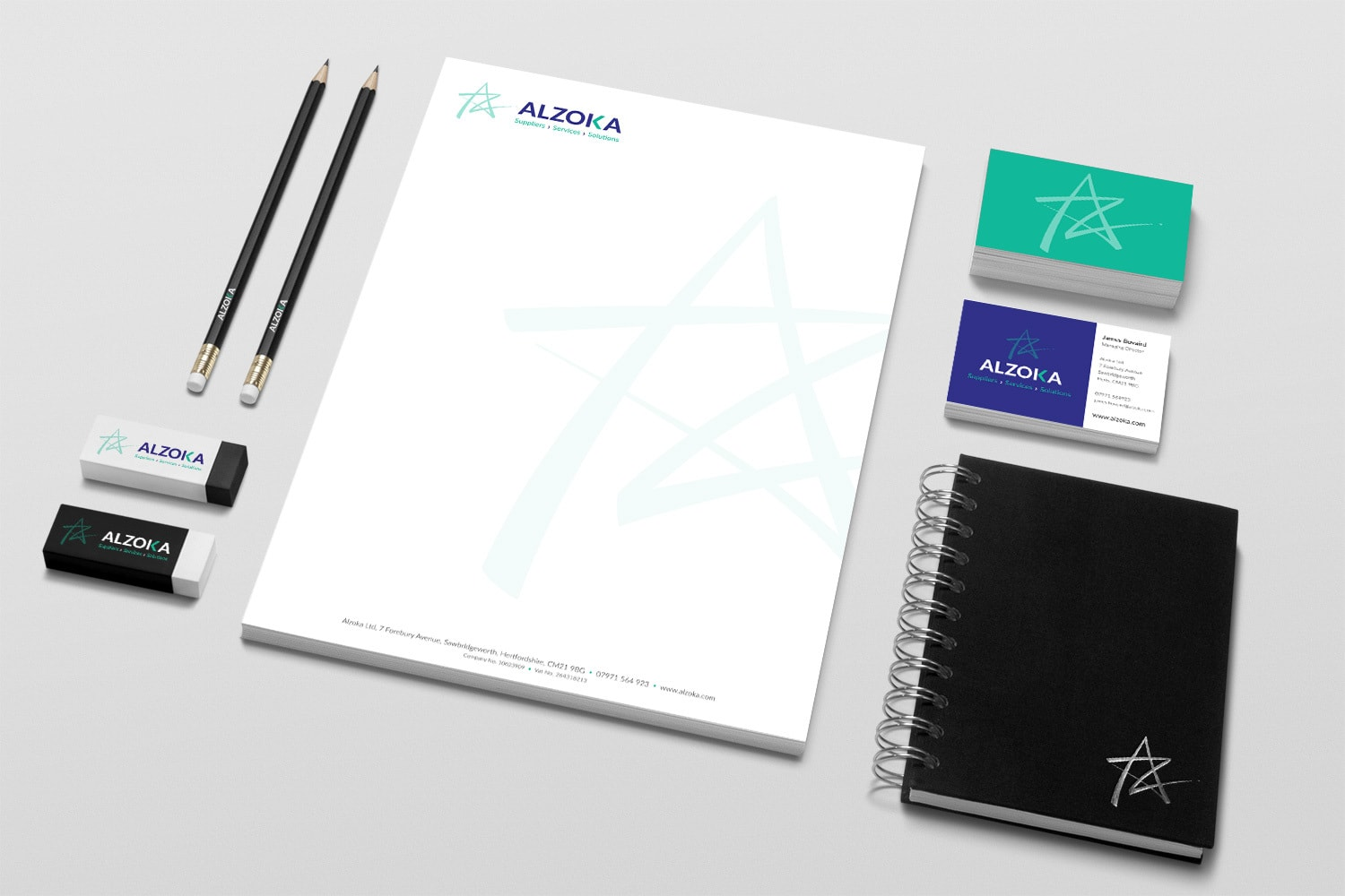 Business stationery pack for Alzoka