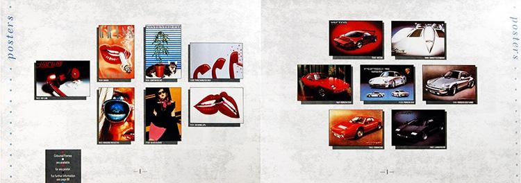 Athena catalogue spread design showcasing their posters