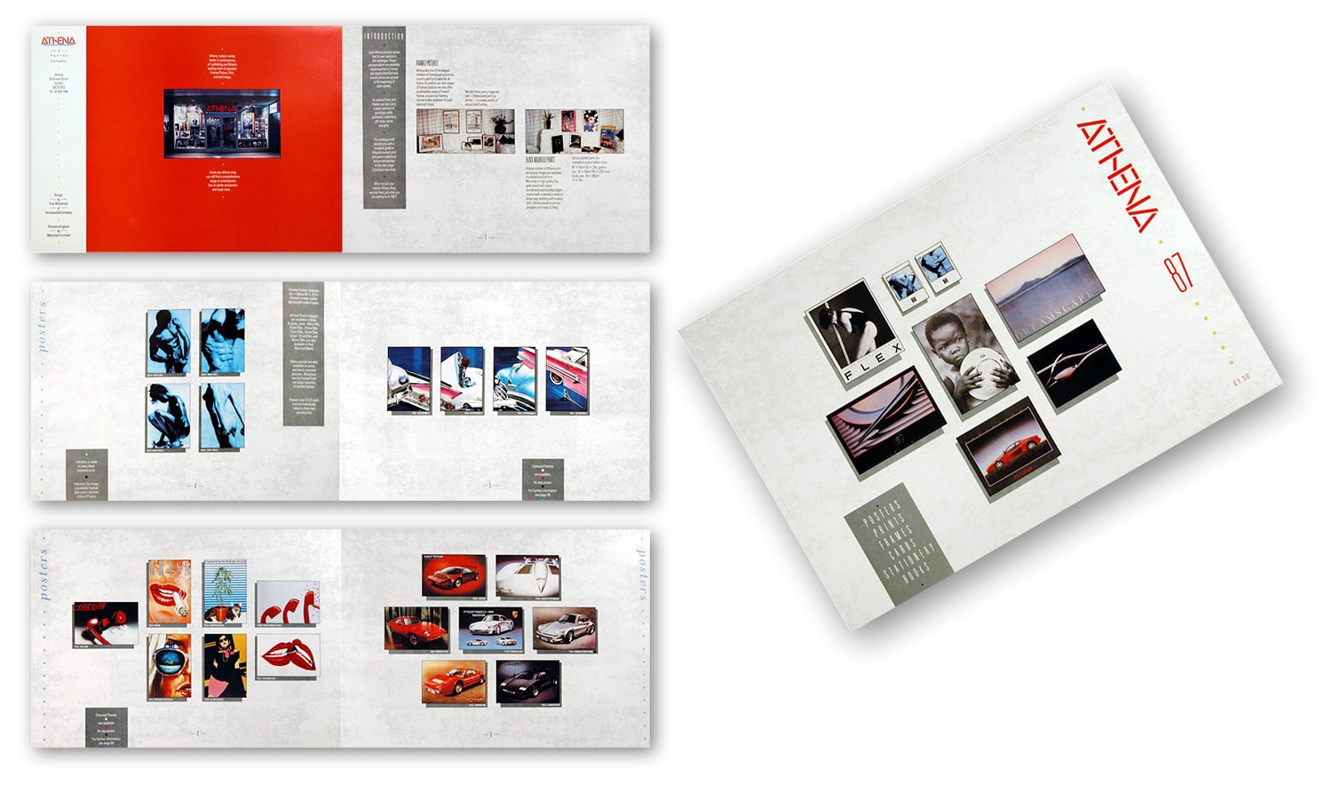 Spreads and cover of the Athena catalogue