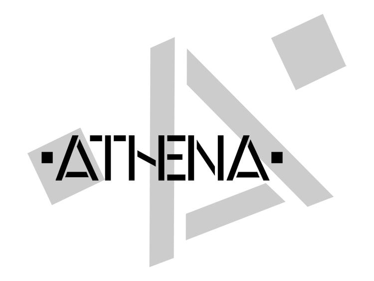Black and White of Athena branding