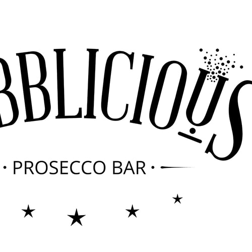Bubblicious branding design in black and white Thumbnail