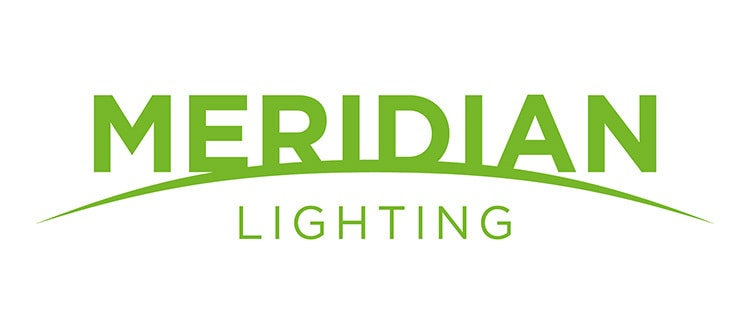 CED sub-brand Merdian Lighting logo design
