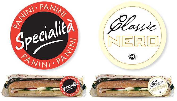 Panini sandwiches promotion design and stickers design for Caffè Nero