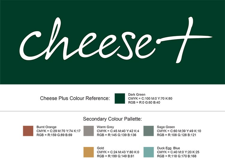 Corporate Colours for Cheese Plus