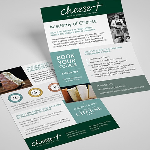 Promotional leaflet design for Cheese Plus Thumbnail