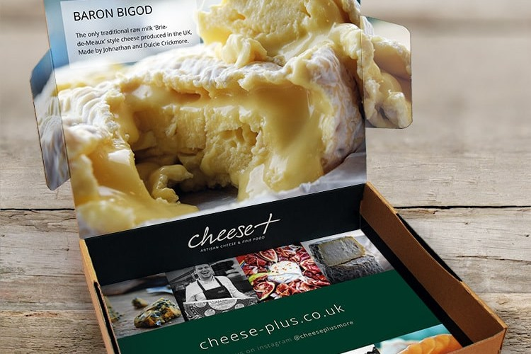 Packaging Design with Cheese Plus branding featuring full-bleed imagery and hi-res lifestyle photography