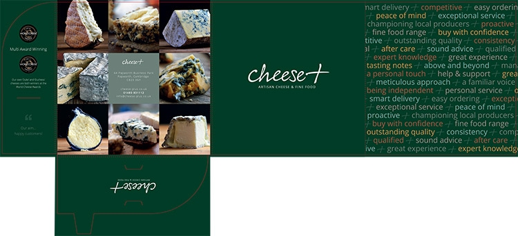 Print design net artwork the corporate folder for Cheese plus