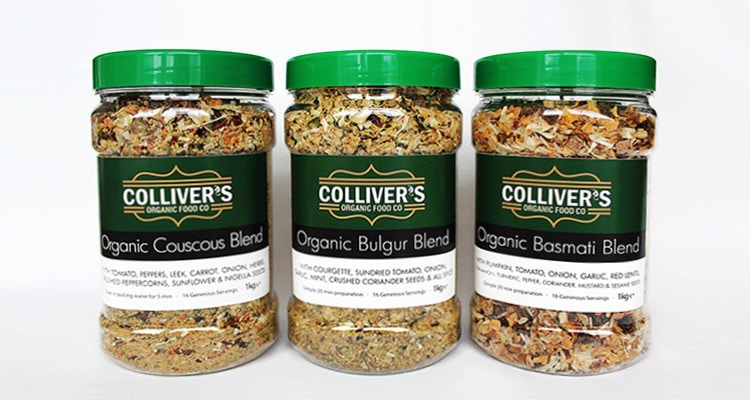 Packaging design for Colliver's Organic Food Jars with different rice and grains
