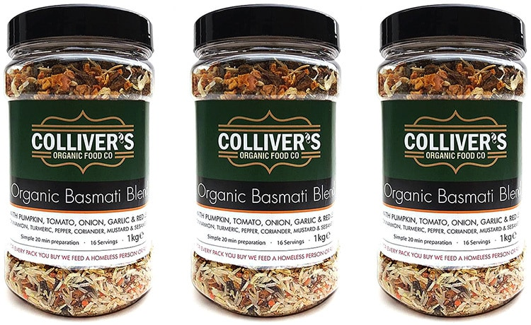 Packaging design for Colliver's Organic Food Jars with rice and grains
