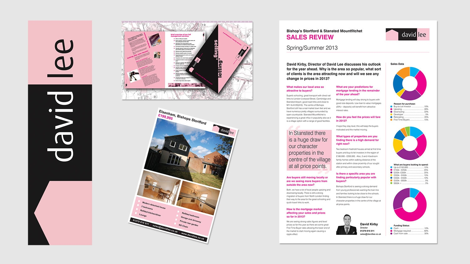 David Lee Estates complete Corporate Stationery pack