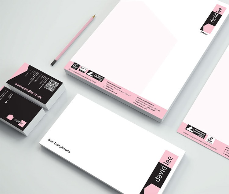 Complete Stationery design for David Lee Estates