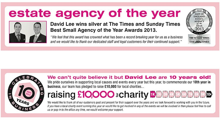 David Lee Estates e-advert campaign design