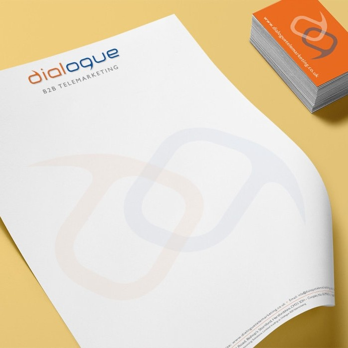 Dialogue Telemarketing Branding Design Business Stationery