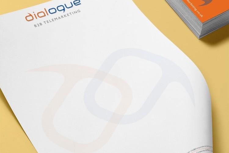 Dialogue Telemarketing Branding Design Business Stationery