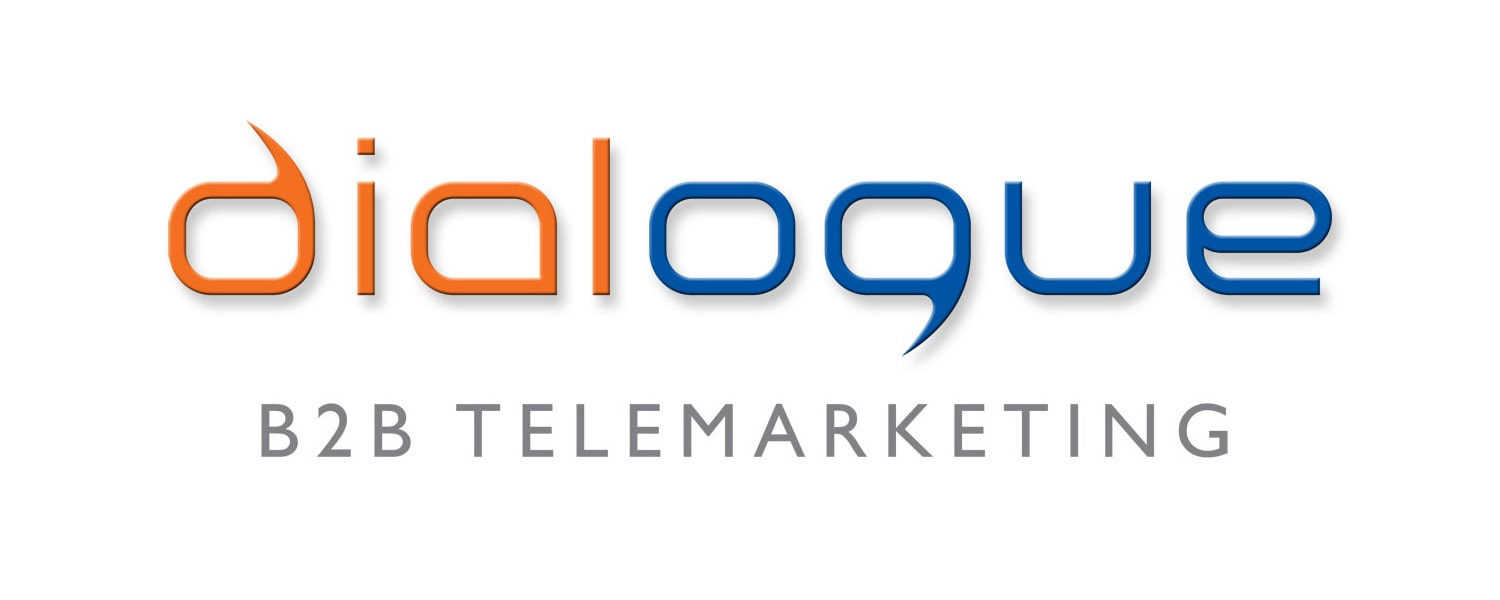 Dialogue Telemarketing coloured logo design with shadow