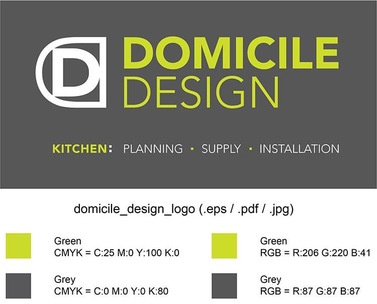 Domicile Design Branding Design Corporate Colour Reference Sheet