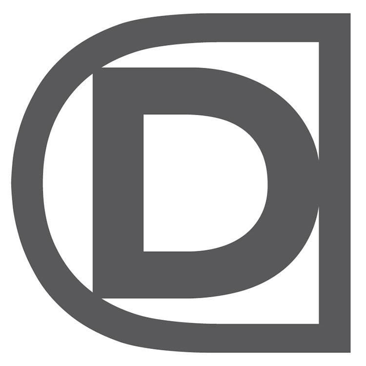 Black and white Domicile Design 'D' symbol Branding