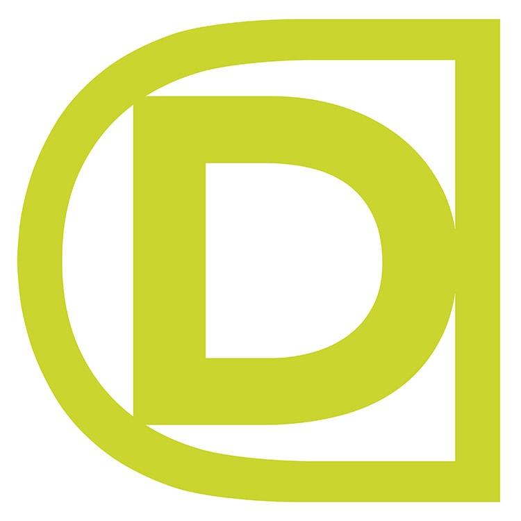 Domicile Design 'D' symbol design in green
