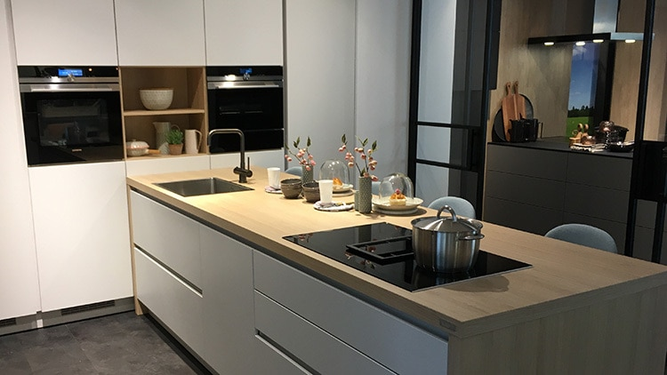 Retouched and enhanced shot of modern kitchen for Domicile Design