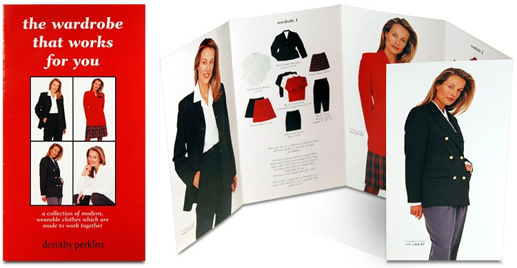 Working wardrobe women's fashion leaflet design for Dorothy Perkins