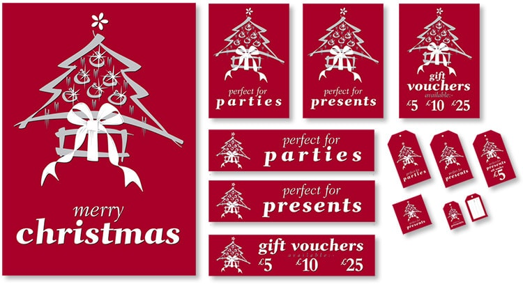 Christmas promotion design for Dorothy Perkins