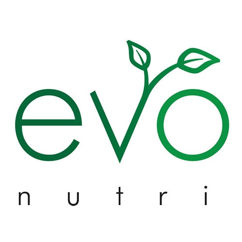 Evolve Nutrition branding design with leaves coming out the letter v Thumbnail