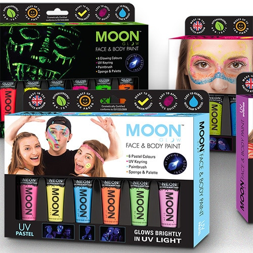 Face paint packaging design set Thumbnail