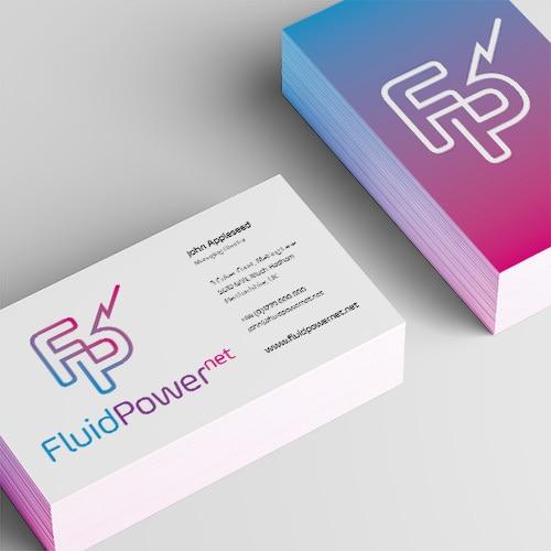 Branding design business cards for Fluid Power Net Thumbnail