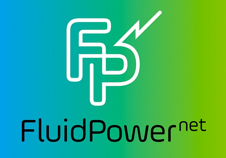 Gradient green Fluid Power Net logo design