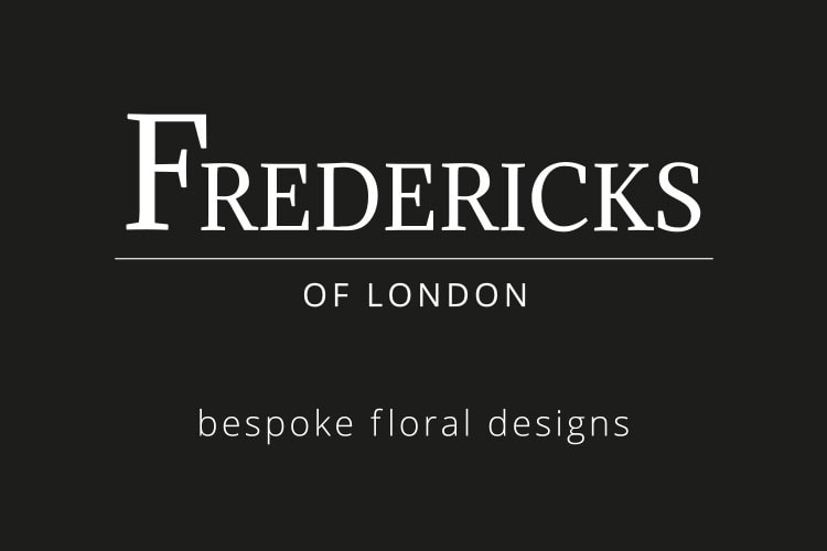 Flat artwork of front Fredericks of London Business card design
