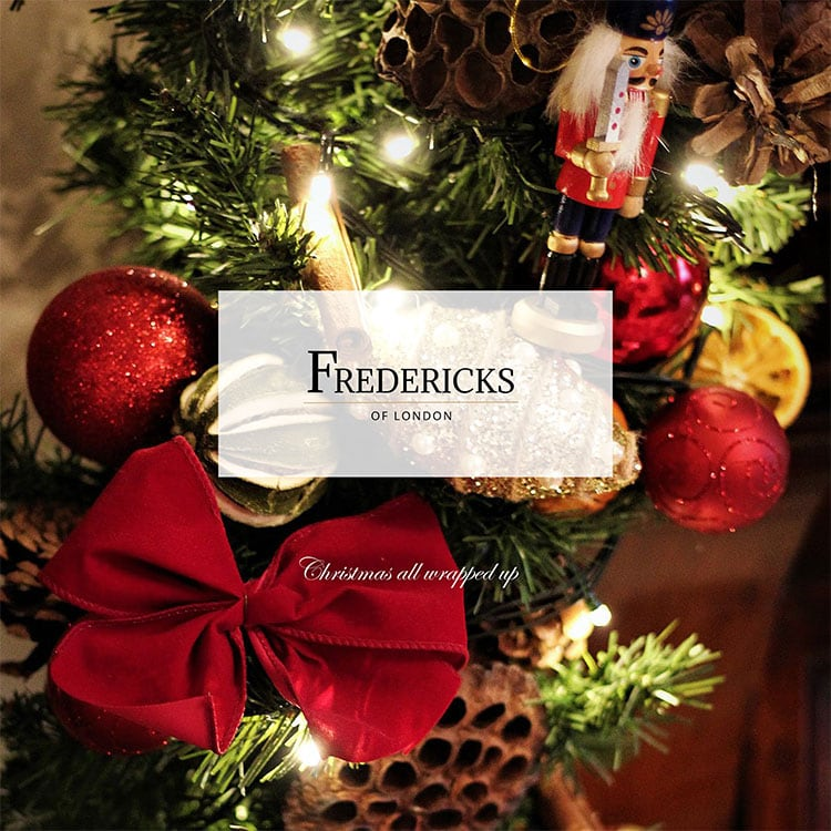 Fredericks of London close up for Christmas decorations front cover design