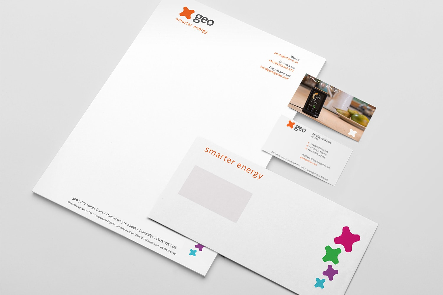 Corporate Stationery for GEO smarter energy