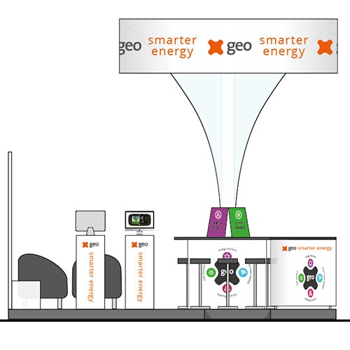 Exhibition Design for GEO smarter energy Vienna Exhibition Thumbnail