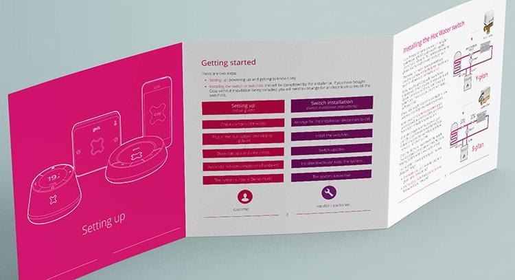 GEO set-up guide leaflet print design