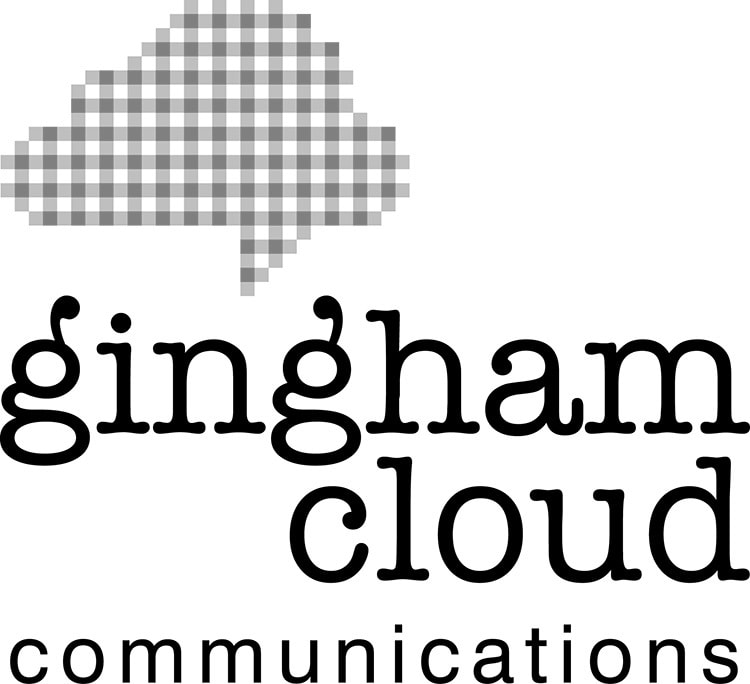 Portrait black and white Gingham Cloud logo design