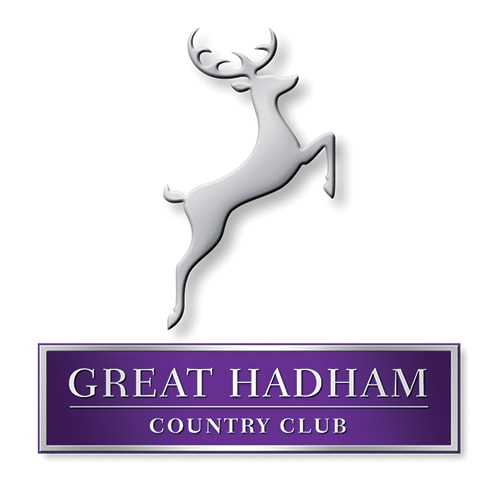 3D Great Hadham Country Club portrait logo design with shadow and silver effect Thumbnail
