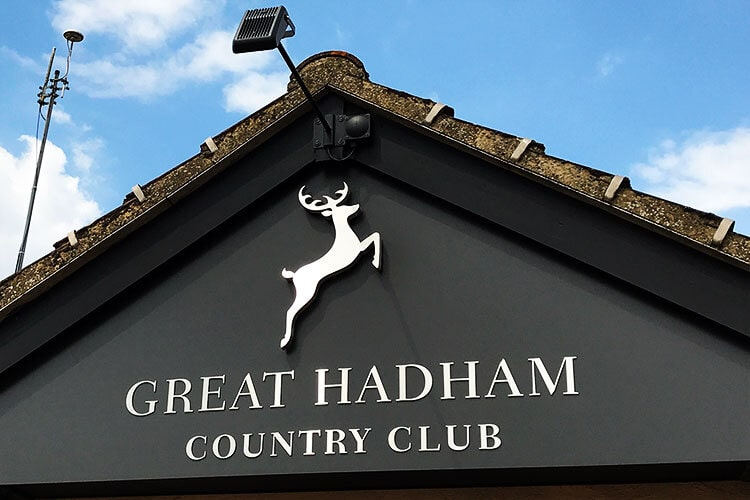 3D Building signage of the Great Hadham Country Club logo