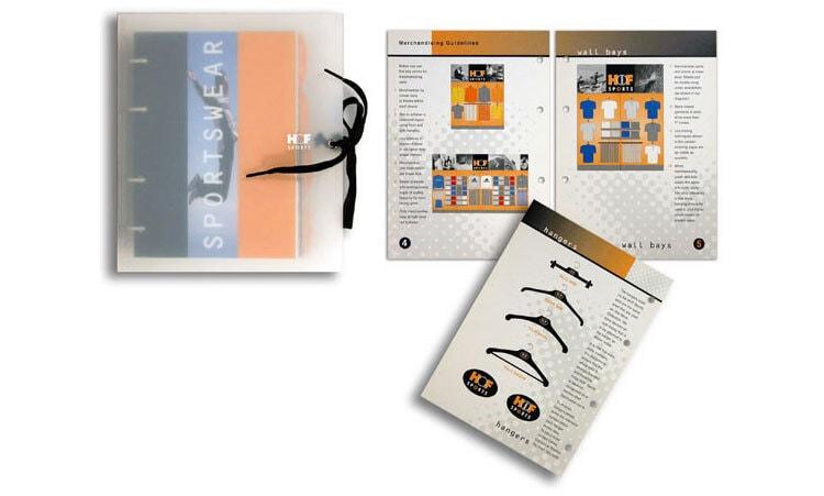 House of Fraser Sports Brochure Design housed in a sandblasted plastic wallet