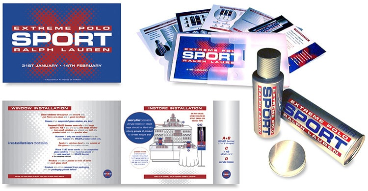 Promotional installation booklet design for the Launch of 'Polo Extreme Sport' range