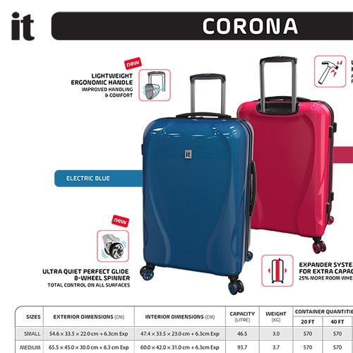 Corona core presentation sheet Print design for IT Luggage Thumbnail