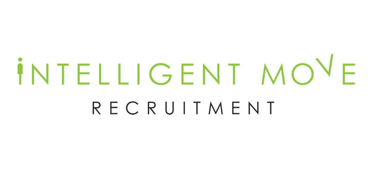 New landscape Intelligent Move Recruitment logo design with white background