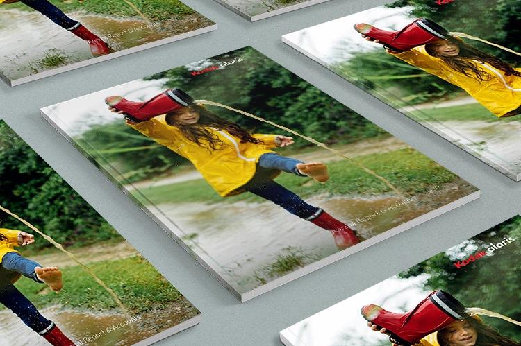 2020 Kodak perfect bound Annual Report print design