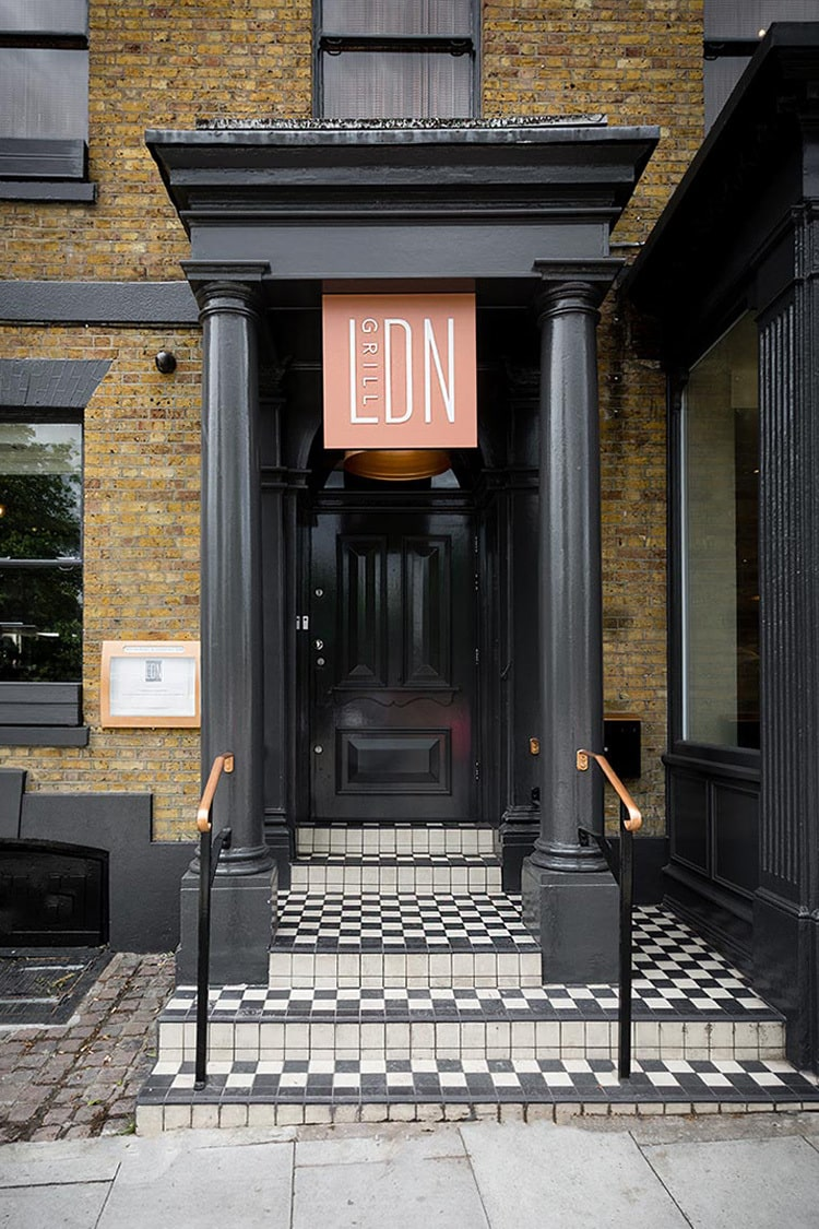 Front entrance with LDN Grill illuminated signage