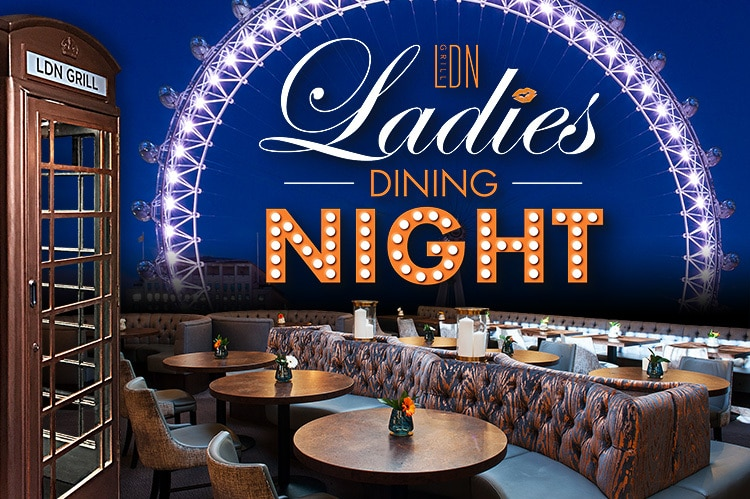 Promotional design for LDN Grill Ladies night event