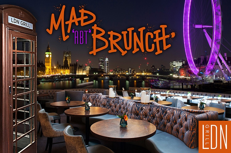 Mad 'ABT' Brunch event LDN Grill promotional design