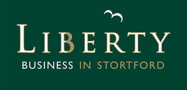Liberty Business in Stortford flat branding design