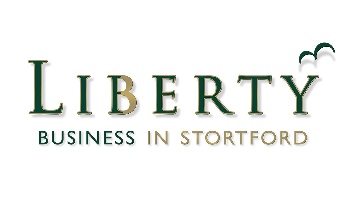Liberty Business in Stortford 3D logo with shadows